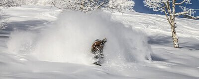 Snowboarder Powder Cloud