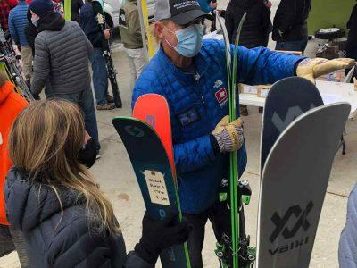 Man Selling Skis
